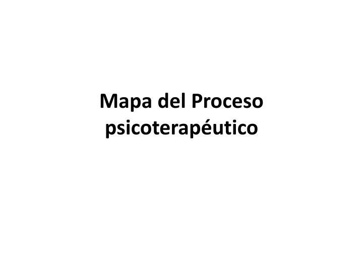 Mapa del Proceso psicoterapéutico