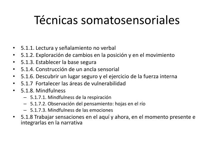 Técnicas somatosensoriales