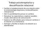 trabajo psicoterap utico y descalificaci n relacional