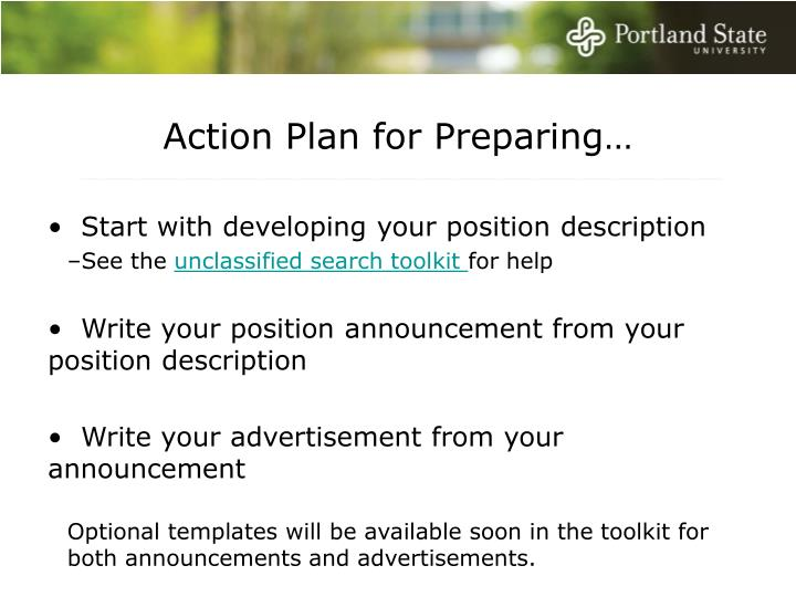 Action Plan for Preparing…