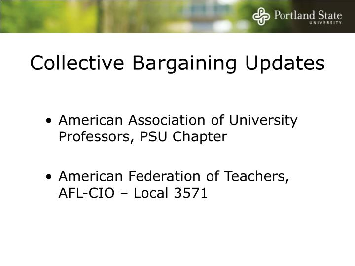Collective Bargaining Updates