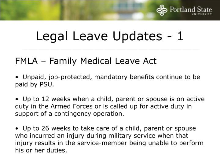 Legal Leave Updates - 1