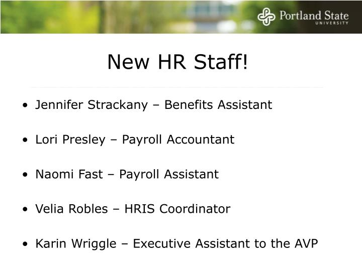 New HR Staff!