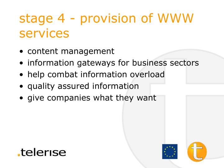 stage 4 - provision of WWW services