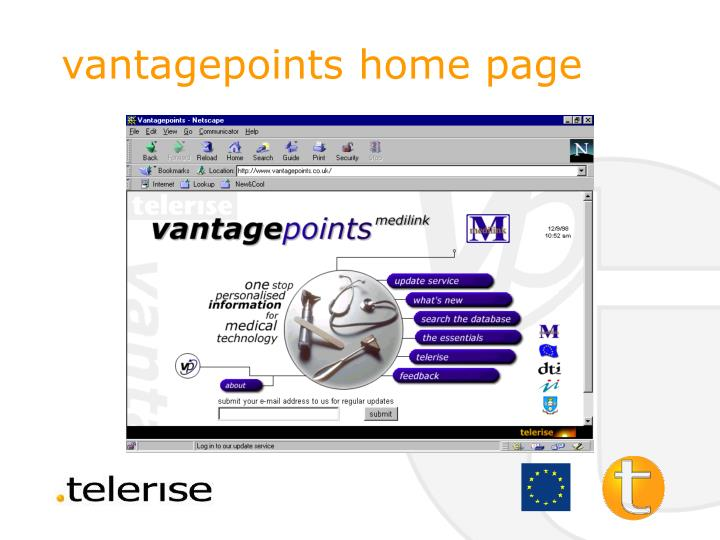 vantagepoints home page
