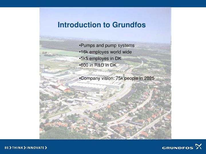 Introduction to grundfos