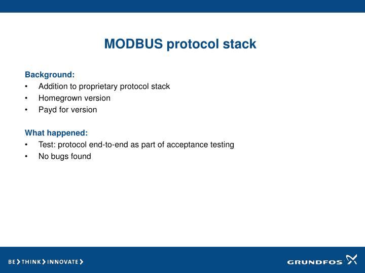 MODBUS protocol stack