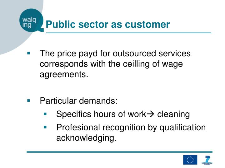 Public sector as customer