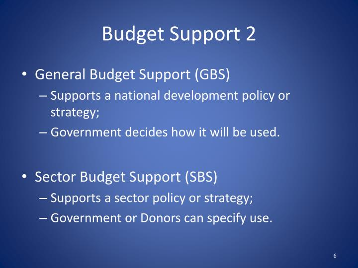 Budget Support 2