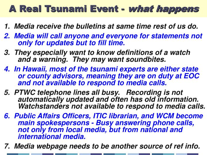 A Real Tsunami Event -