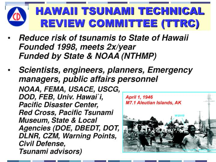 HAWAII TSUNAMI TECHNICAL