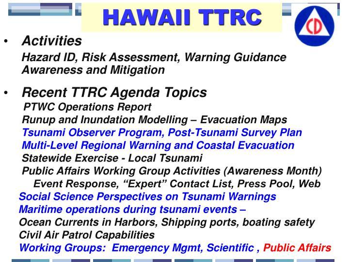 HAWAII TTRC