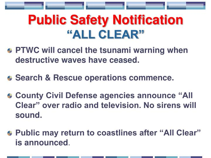 Public Safety Notification