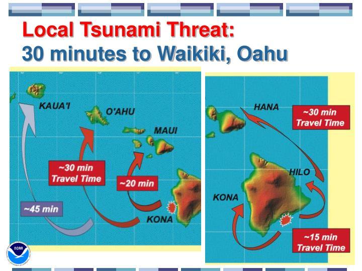 Local Tsunami Threat: