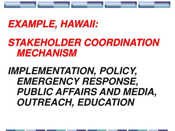 EXAMPLE, HAWAII: