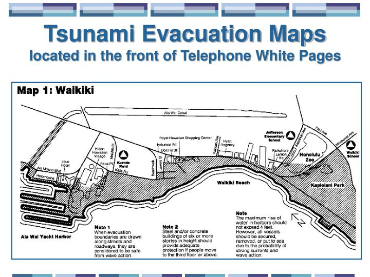 Tsunami Evacuation Maps