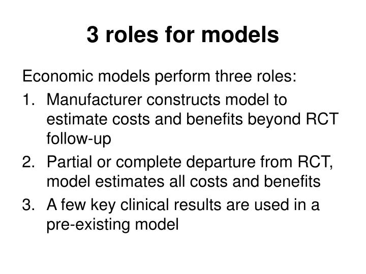 3 roles for models