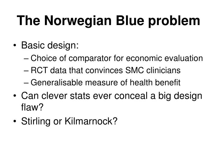 The Norwegian Blue problem