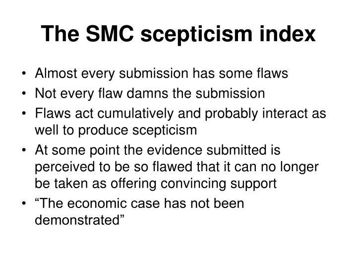 The SMC scepticism index