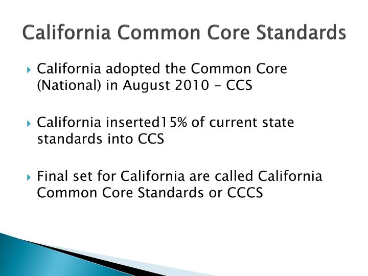 California Common Core Standards
