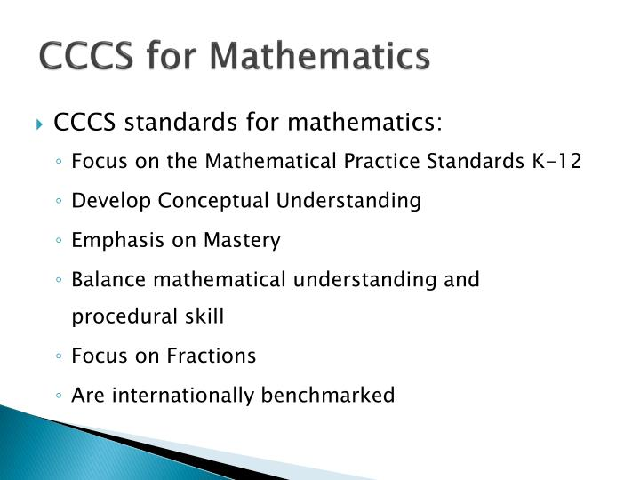CCCS for Mathematics