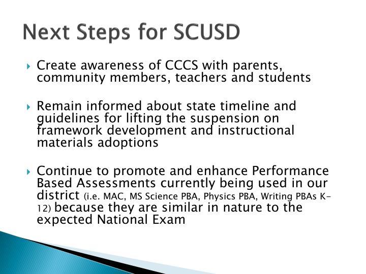 Next Steps for SCUSD