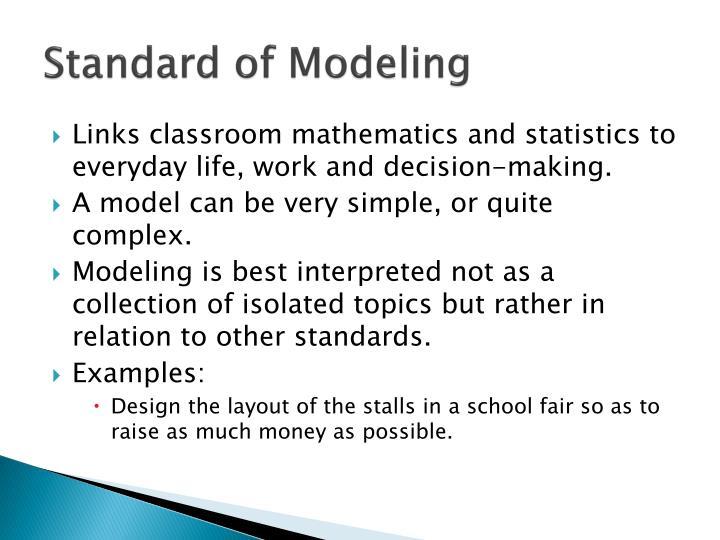 Standard of Modeling