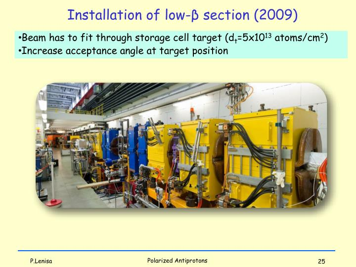 Installation of low-