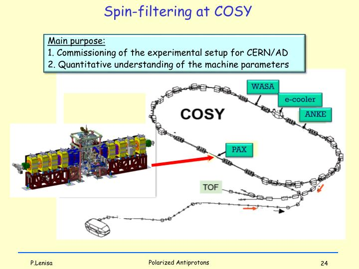 Spin-filtering at COSY