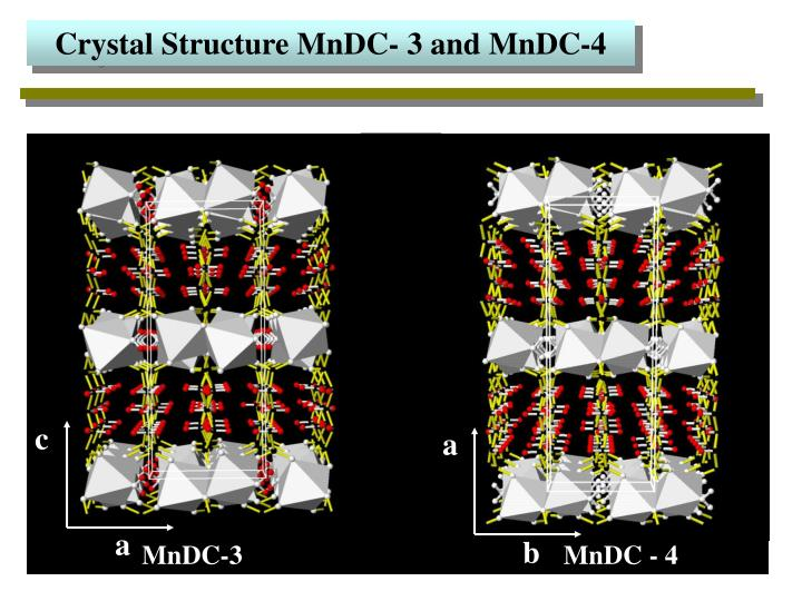 Crystal Structure MnDC- 3 and MnDC-4