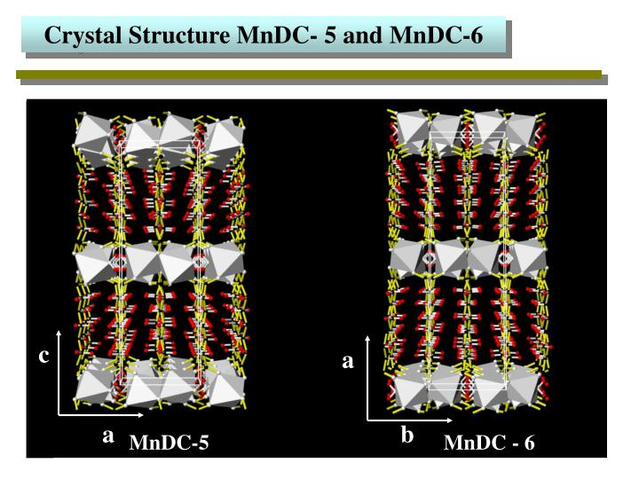 Crystal Structure MnDC- 5 and MnDC-6