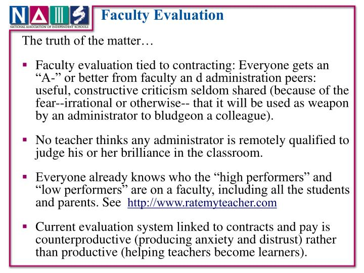 Faculty Evaluation