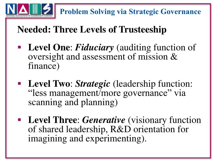 Problem Solving via Strategic Governance