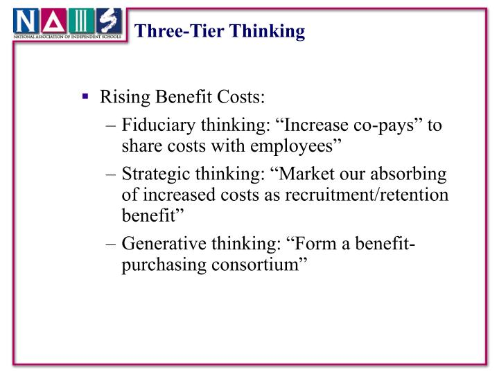 Three-Tier Thinking