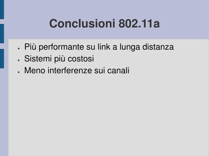 Conclusioni 802.11a