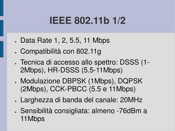 IEEE 802.11b 1/2