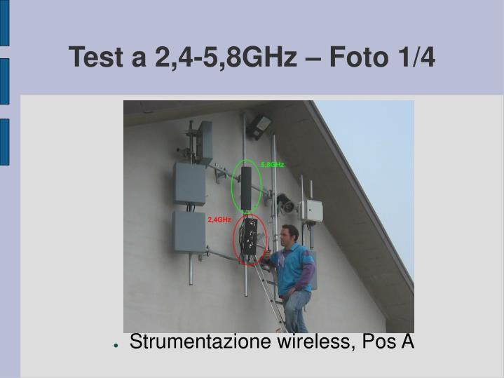 Test a 2,4-5,8GHz – Foto 1/4