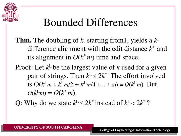 Bounded Differences