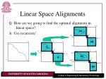 linear space alignments15