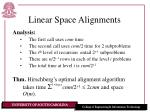 linear space alignments17