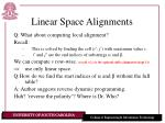 linear space alignments18