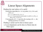 linear space alignments19
