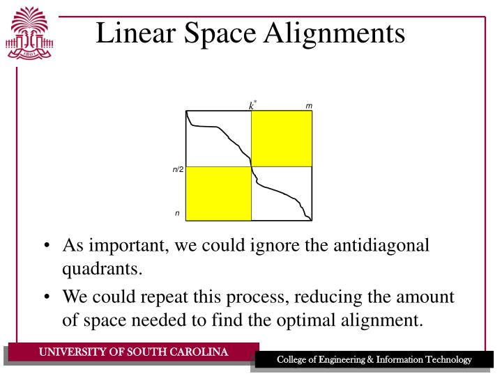 Linear Space Alignments