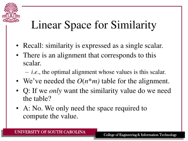 Linear Space for Similarity