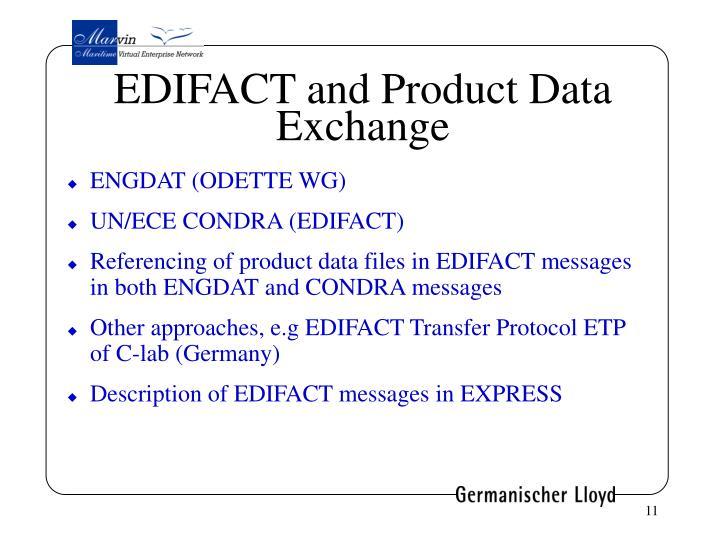 EDIFACT and Product Data Exchange