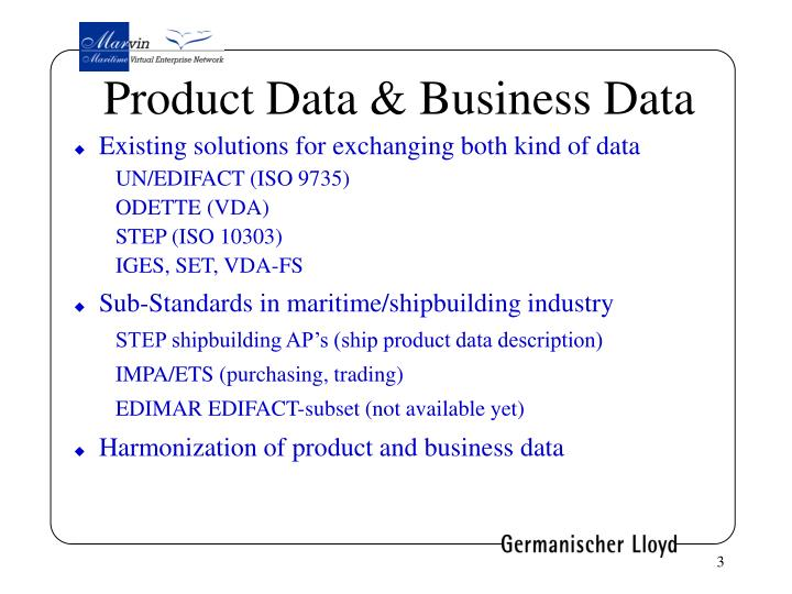 Product Data & Business Data