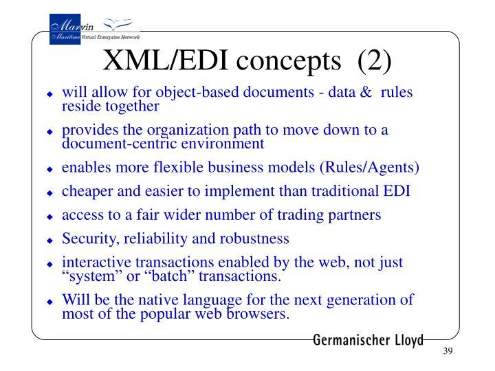XML/EDI concepts  (2)