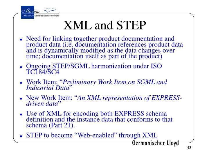 XML and STEP