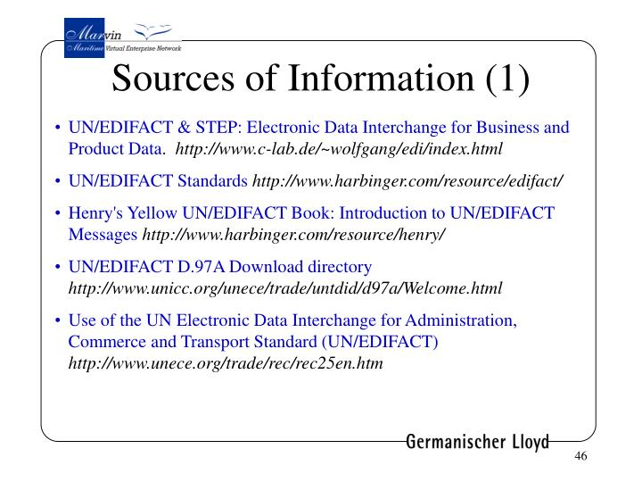 Sources of Information (1)