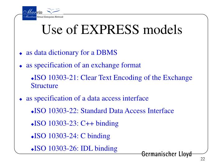Use of EXPRESS models